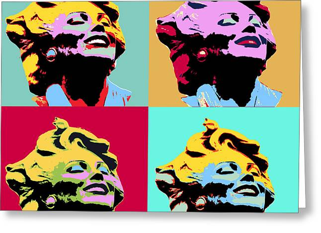 Four Marilyns Greeting Card by Dominic Piperata