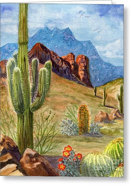 Four Peaks Vista Greeting Card