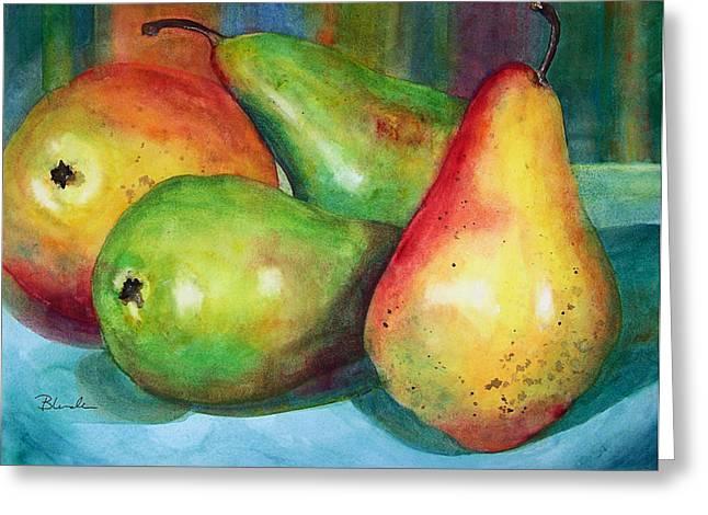 Four Pears Art Blenda Studio Greeting Card
