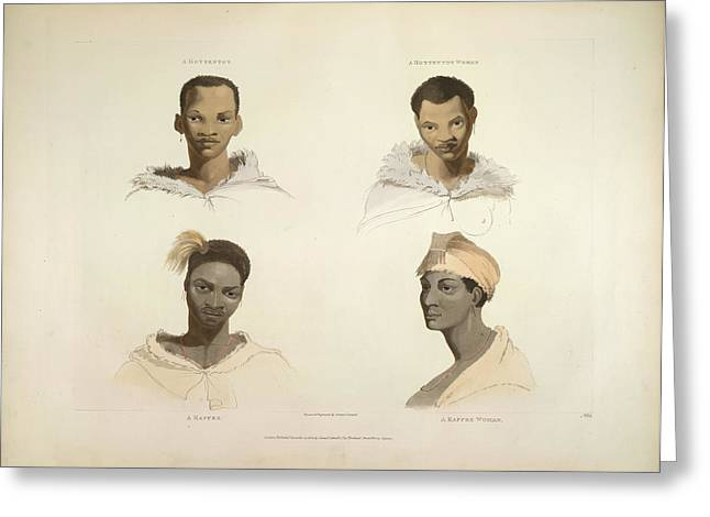 Four Portraits Greeting Card by British Library