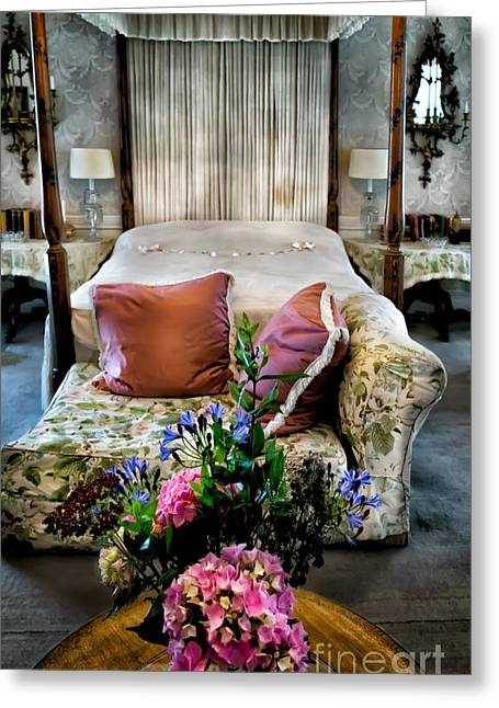 Four Poster Bed Greeting Card by Adrian Evans