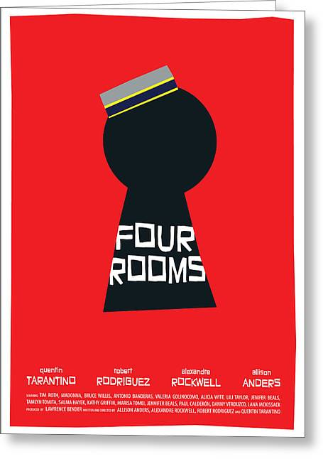 Four Rooms Poster Greeting Card