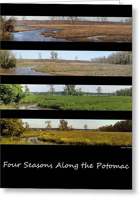 Four Seasons Along The Potomac Greeting Card