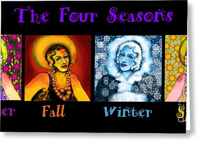 Four Seasons In A Row Greeting Card