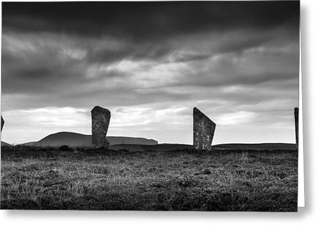 Four Stones Of Brodgar Greeting Card by Dave Bowman