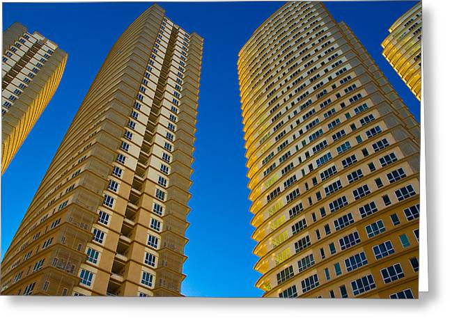 Four Towers Greeting Card