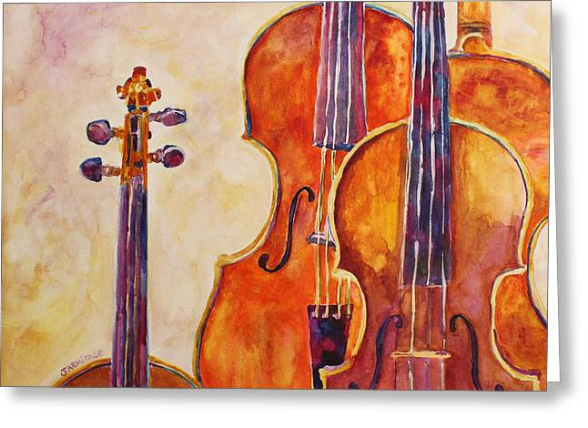Four Violins Greeting Card