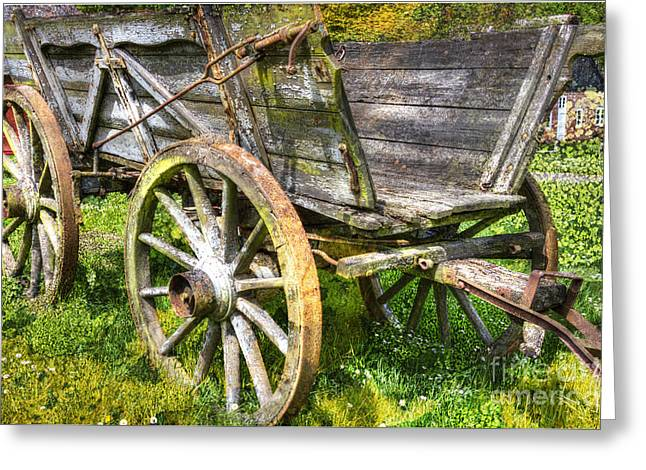 Four Wheels But No Horse Greeting Card by Heiko Koehrer-Wagner