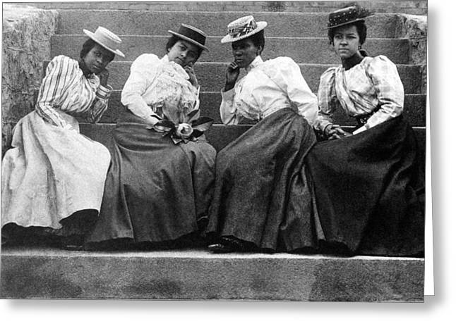 Four Women, 19th Century Greeting Card by Granger