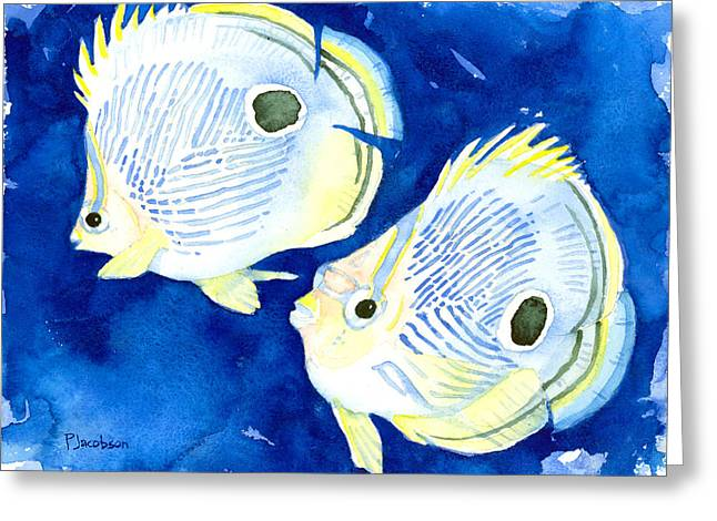 Foureye Butterflyfish Greeting Card