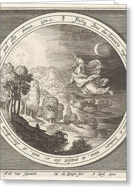 Fourth Day Of Creation, God Creates The Sun Greeting Card