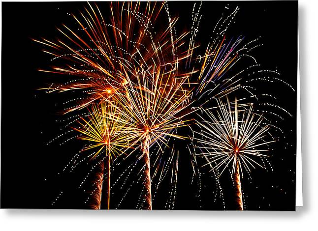 Fourth Of July Fireworks  Greeting Card by Saija  Lehtonen