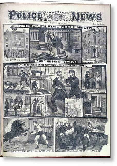 Fourth Whitechapel Murder Greeting Card by British Library