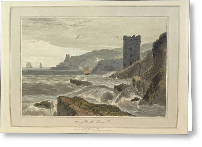 Fowey Castle Greeting Card by British Library