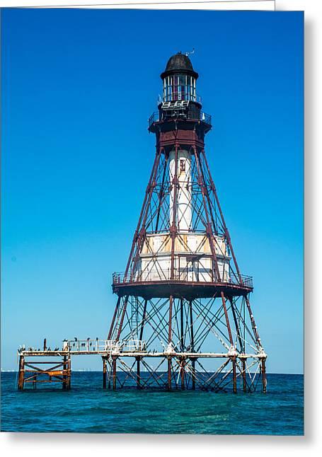Fowey Rocks Lighthouse Greeting Card