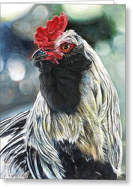 Fowl Martyr Greeting Card by Cara Bevan
