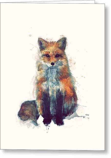 Fox Greeting Card by Amy Hamilton