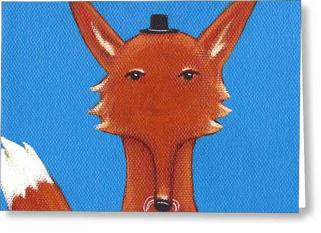 Fox Greeting Card by Christy Beckwith