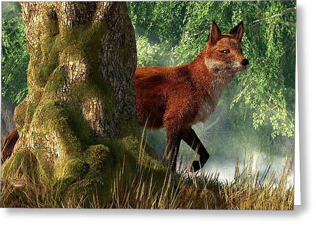 Fox In A Forest Greeting Card