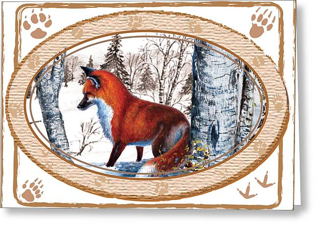 Fox On The Trail Greeting Card