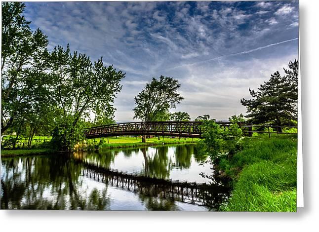 Fox River Bridge Greeting Card