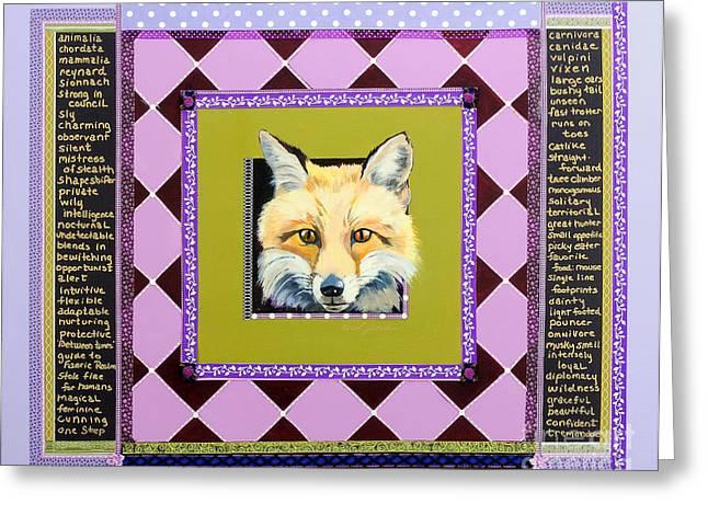 Fox Speaks Greeting Card