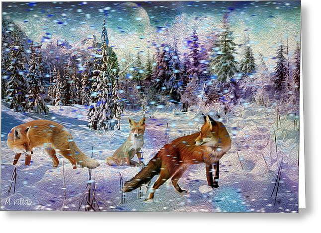 Fox Storm Greeting Card