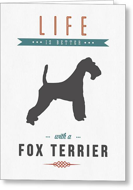 Fox Terrier 01 Greeting Card by Aged Pixel