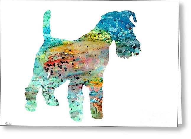 Fox Terrier  Greeting Card by Luke and Slavi