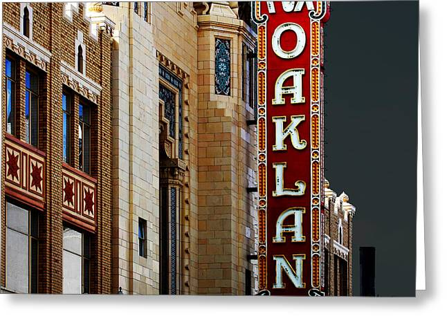 Fox Theater In Oakland California Square Greeting Card