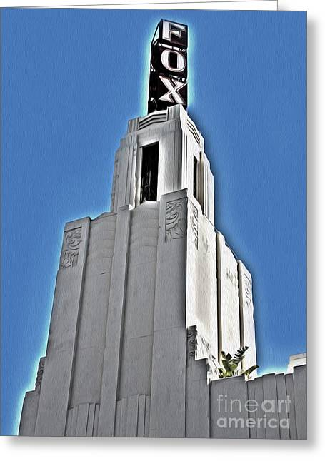 Fox Theater - Pomona - 04 Greeting Card by Gregory Dyer