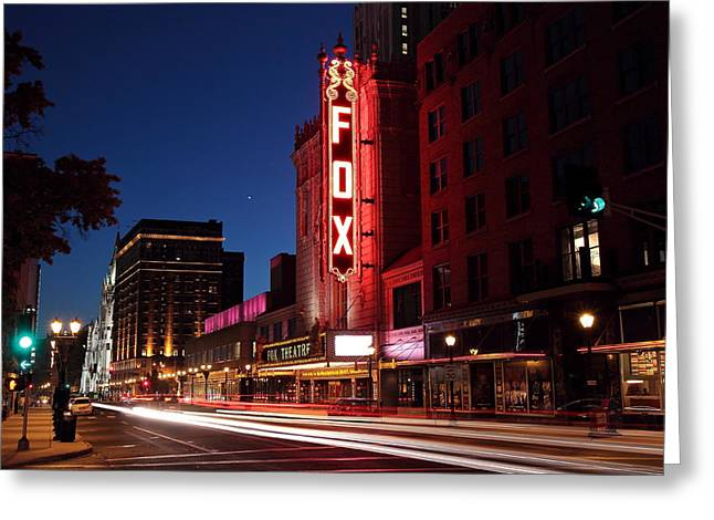 Fox Theater Twilight Greeting Card