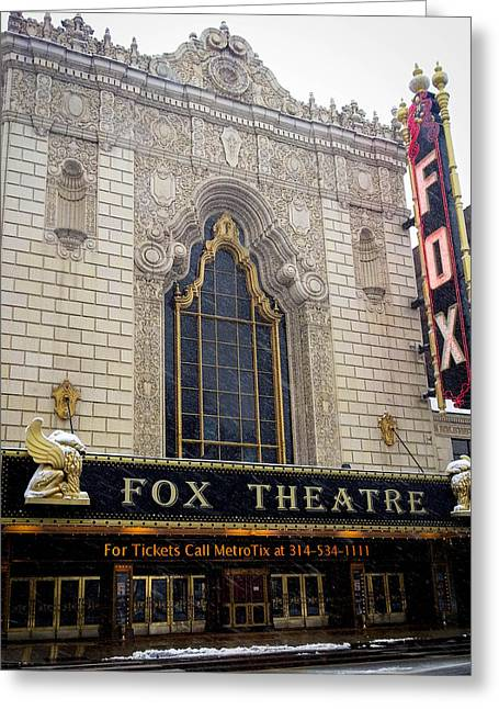 Fox Theatre St. Louis Greeting Card by Cathy Smith