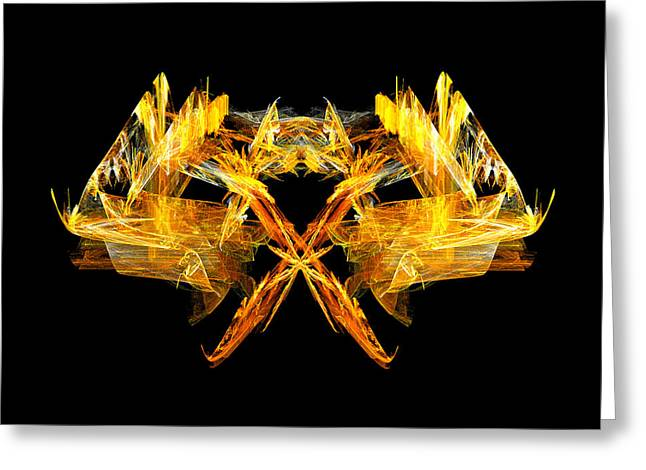Greeting Card featuring the digital art Foxfire by R Thomas Brass