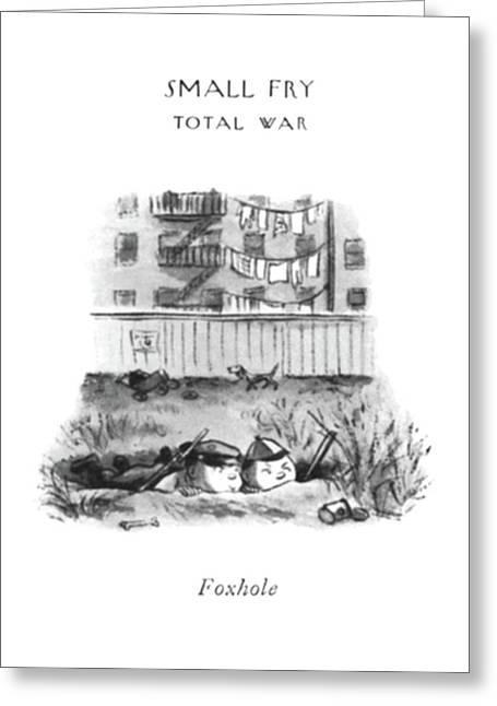 Foxhole Greeting Card by William Steig
