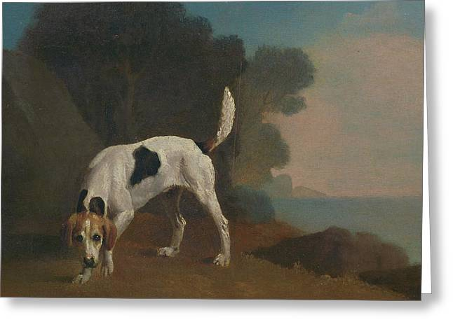 Foxhound Foxhound On The Scent, George Stubbs Greeting Card by Litz Collection