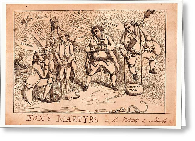Foxs Martyrs Or The Patriots In Limbo, England  Publisher Greeting Card by Litz Collection