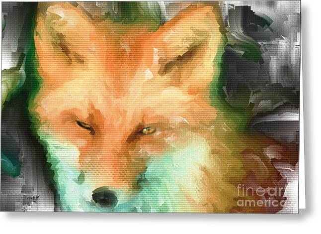 Foxy Girl Greeting Card by Ruby Cross