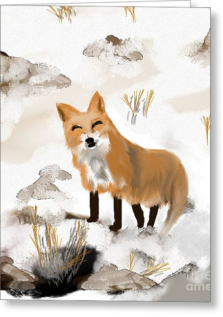 Foxy Object Of The Hunt Greeting Card