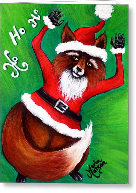 Foxy Santa Greeting Card