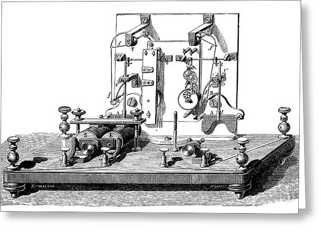 Foy-breguet Telegraph Greeting Card by Science Photo Library