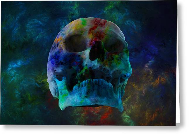 Fracskull 3 Greeting Card by Chris Thomas
