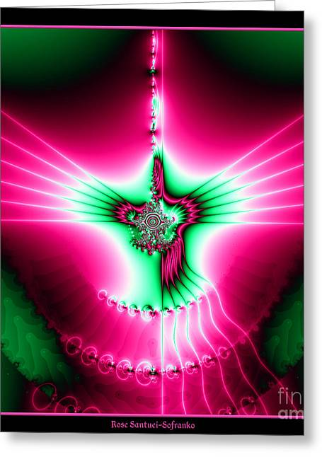 Fractal 11 Holy Spirit Greeting Card by Rose Santuci-Sofranko