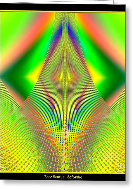 Fractal 32 Up Up And Away Greeting Card by Rose Santuci-Sofranko