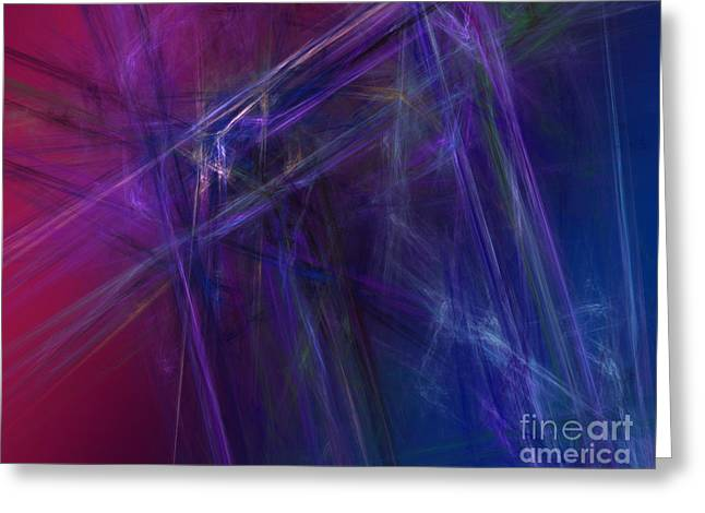 Fractal Abstract Greeting Card by Amanda Collins