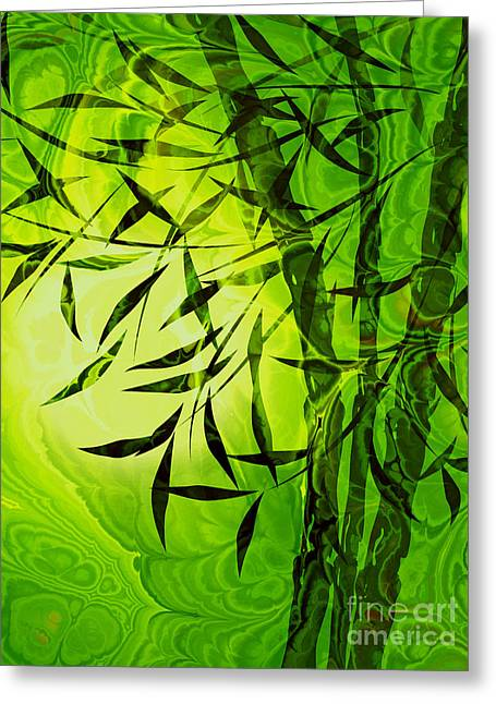 Fractal Bamboo Greeting Card by Lutz Baar