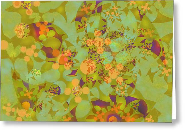 Greeting Card featuring the digital art Fractal Blossom 2 by Ursula Freer