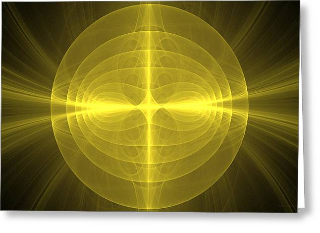 Fractal - Christ - Holy Cross Greeting Card by Mike Savad