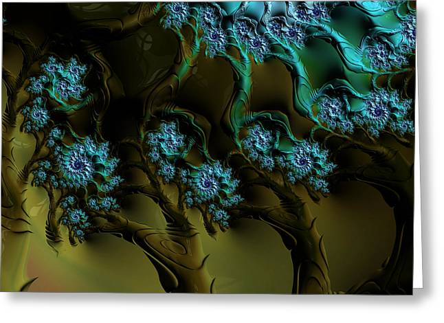 Fractal Forest Greeting Card by GJ Blackman