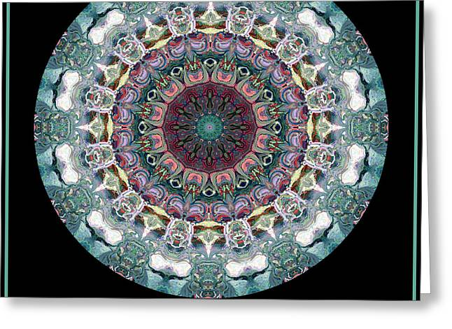 Greeting Card featuring the digital art Fractal Frenzy No 2 by Charmaine Zoe